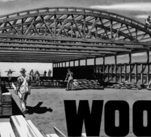 Wood Shelters Our Planes -- WWII Sticker