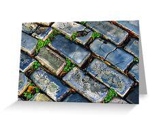 Goodbye Yellow Brick Road - Hello Blue Cobblestone Road ©  Greeting Card