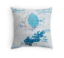 Moon Dial. Throw Pillow
