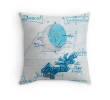 Moon Dial. Throw Pillow