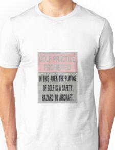 Golf Hurts Aeroplanes Unisex T-Shirt