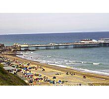 Cromer tilt shift beach  Photographic Print