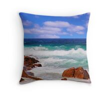 An eye catching scene at Moses Rock Throw Pillow