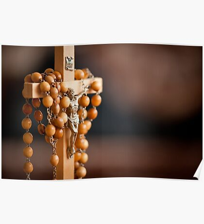 Jesus figurine and rosary  Poster