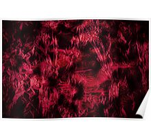 Claret stained texture abstract  Poster