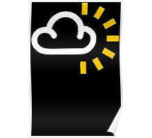 CLOUDY With SUN WEATHER SYMBOL Funny Mens T Shirt S - XXXL Humour SUNNY Poster
