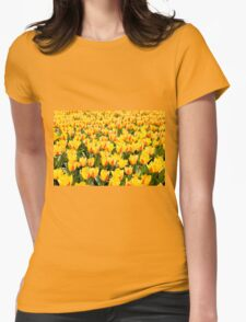 yellow and red Stresa tulips abloom  Womens Fitted T-Shirt