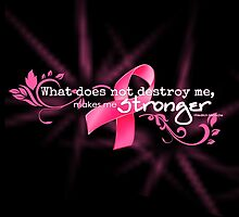 Breast Cancer Awareness Nietzsche Quote by tinymystic