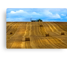 """The Tractor""    Chicheley Hill Canvas Print"
