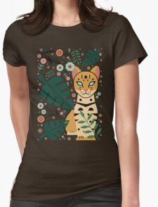 Ocelot Cub Womens Fitted T-Shirt