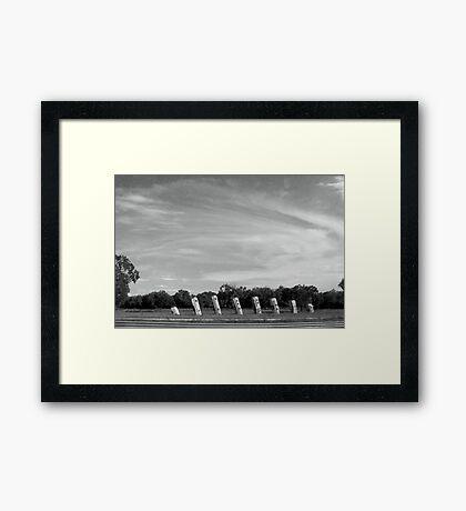 Airstream Ranch Framed Print