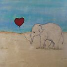 Elephant in a field  by Gillienne Castillo
