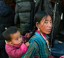 Mother & Baby, Lhasa, Tibet by bulljup