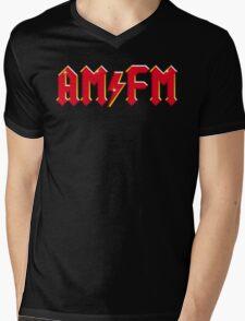 AM FM Classic Red Funny AC DC Logo Scott Bon Angus Back T-Shirt