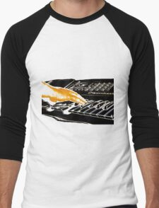 Playing Keyboard Men's Baseball ¾ T-Shirt