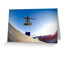 Skateboarder flying Greeting Card