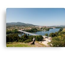 River between portugal and spain Canvas Print