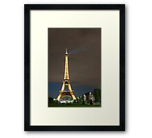 Eiffel Tower by Night Framed Print