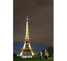 Eiffel Tower by Night Photographic Print