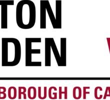 Hatton Garden London Road Sign Sticker