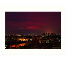 A Monsoon Evening in my city Art Print