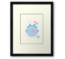 Pastel Wool Web  Framed Print