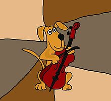 Funky Brown Dog is playing a Red Cello by naturesfancy
