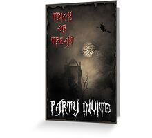 Trick or Treat Party Invite Greeting Card