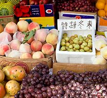 Fruit Stand in Beijing by Glennis  Siverson