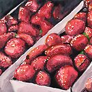 Strawberries in Cartons by Amy-Elyse Neer