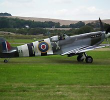Spitfire mkIX with Operation Overlord Stripes by Andy Jordan