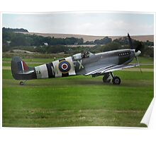 Spitfire mkIX with Operation Overlord Stripes Poster