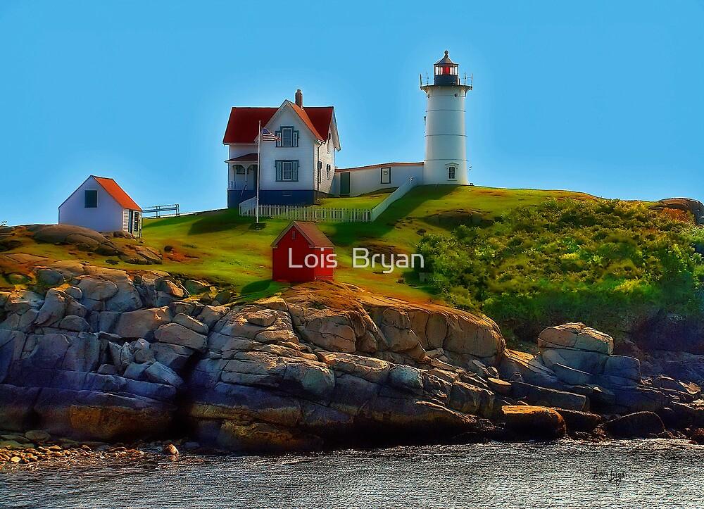 Nubble Lighthouse, Maine, USA by Lois  Bryan