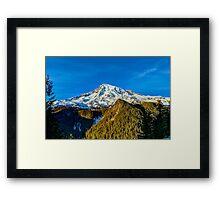 Mt Rainier HDR Framed Print