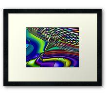 Three Layer Abstract: High in Fiber Optics  (UF0418) Framed Print
