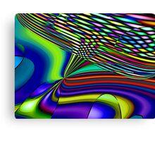 Three Layer Abstract: High in Fiber Optics  (UF0418) Canvas Print
