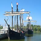 Nina and Pinta in Port - 53 Views by BarbL