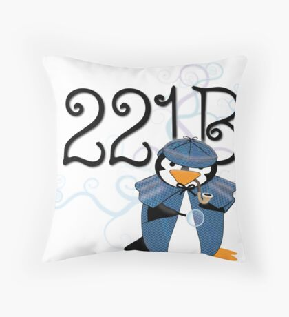 Sherlock Penguin Throw Pillow