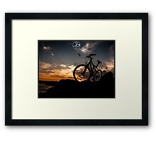 muountain biking Framed Print