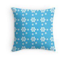 Snowflake Azure Throw Pillow
