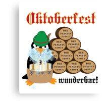 Oktoberfest Penguin Canvas Print