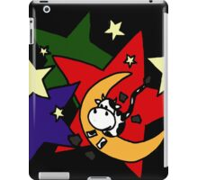 Funny Abstract Art Cow Jumping Over the Moon iPad Case/Skin