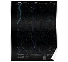 USGS Topo Map Oregon Sagebrush Knoll 20110816 TM Inverted Poster