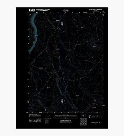USGS Topo Map Oregon Sagebrush Knoll 20110816 TM Inverted Photographic Print
