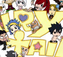 fairy tail erza natsu chibi anime manga shirt Sticker