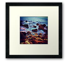 autumn sea Framed Print