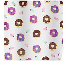 Donuts and jelly beans lover Poster