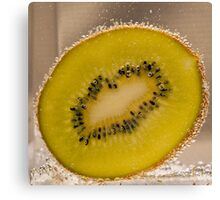 Kiwi Fruit With Bubbles Canvas Print