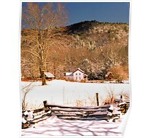 WINTER, CADES COVE Poster