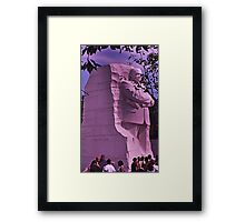 A stone of hope - Dr. Martin Luther King, Jr. Framed Print